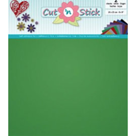 Cut 'n Stick, GREEN  20 x 23 cm , 2 vellen zelfklevende foil