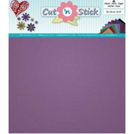 Cut 'n Stick, Violet  20 x 23 cm , 2 vellen zelfklevende foil