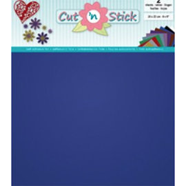 Cut 'n Stick, BLUE  20 x 23 cm , 2 vellen zelfklevende foil