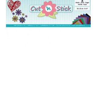 Cut 'n Stick, WHITE  20 x 23 cm , 2 vellen zelfklevende foil