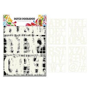 Dutch Doobadoo Stencil Art A-Z (4 stencils)