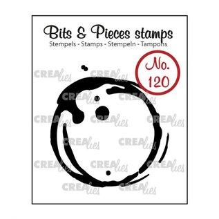 CreaLies Bits & Pieces stempel no.120 Koffievlek groot