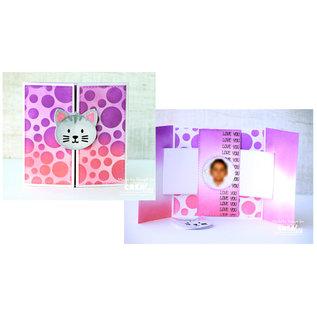 CreaLies Cardzz stansen no. 304, Gate fold shutter card