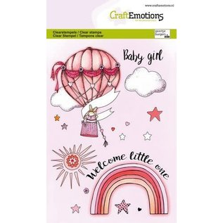 CraftEmotions CraftEmotions clearstamps A6 - Babygirl
