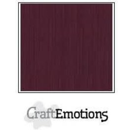 CraftEmotions CraftEmotions linnenkarton BURGUNDY 30,0x30,0cm