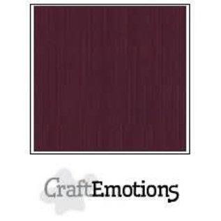 CraftEmotions CraftEmotions linnenkarton BURGUNDY 30,0x30,0cm