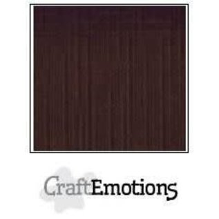 CraftEmotions CraftEmotions linnenkarton CHOCOLADE 30,0x30,0cm