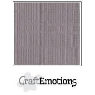 CraftEmotions CraftEmotions linnenkarton zilvergrijs  30,0x30,0cm