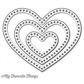 My Favourite Things My Favorite Things  Die-Namics Stitchable heart stax