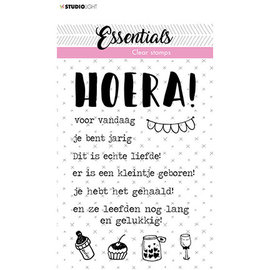 Studio Light SL Clear Stamp Tekst NL Hoera Essentials nr.523