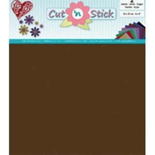 Cut 'n Stick, BROWN 20 x 23 cm , 2 vellen zelfklevende foil