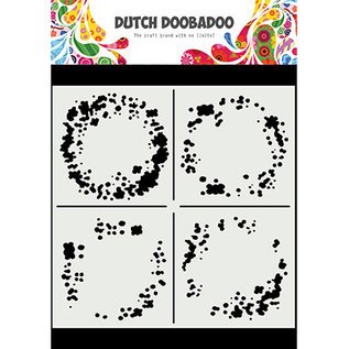 Dutch Doobadoo Mask Art Circle Grunge