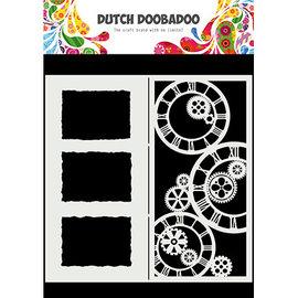 Dutch Doobadoo Mask Art Slimline Clocks