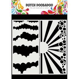 Dutch Doobadoo Mask Art Slimline Clouds