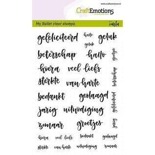 CraftEmotions A6 - Bullet Journal - tekst diverse 5-10mm (NL) Carla Kamphuis