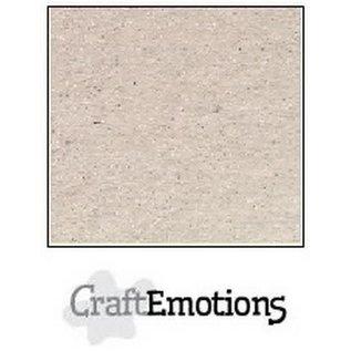 CraftEmotions CraftEmotions karton kraft krijtwit 10 vel 30,5x30,5cm 220GR