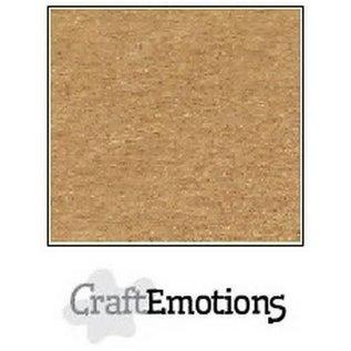 CraftEmotions CraftEmotions karton kraft lichtbruin 10 vel 30,5x30,5cm 220GR