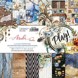 Memory Play ! 6x6 Inch Paper Pack 2x6 designs double sided