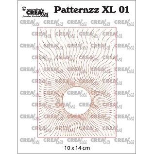 CreaLies Patternzz XL Imprint, Patroon XL, Zon in stippen no. 01