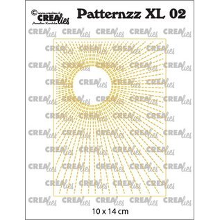 CreaLies Patternzz XL Imprint, Patroon XL, Zon in stiksteek no. 02