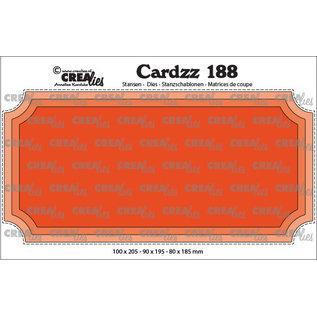 CreaLies Cardzz stansen no. 188, Slimline H, Ticket