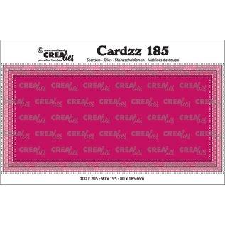 CreaLies Cardzz stansen no. 185, Slimline E, met dubbele stippenlijn