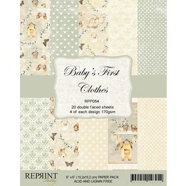 Reprint Reprint Baby´s First Clothes Collection 6x6 Inch Paper Pack