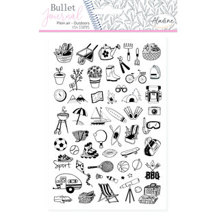 Aladine Bullet Journal Foam Stamps Outdoors