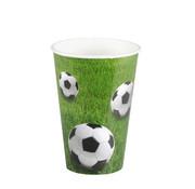PAPSTAR Drinkbekers, Karton 0,2 l _ 7 cm x 9,7 cm 'Football'