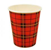 Koffiebekers, Rood Karton | 150ml - _70,3mm