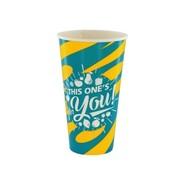 Milkshakebekers (For You), Geel/Blauw Karton | 500ml- _92mm