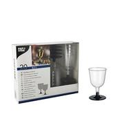 PAPSTAR Glazen voor witte wijn, PS 0,1 l _ 6,7 cm x 11 cm glashelder