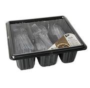 PAPSTAR Bestek in box, PS transparant (messen, vorken en lepels)