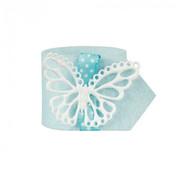 PAPSTAR Servettenring _ 4 cm lichtblauw 'Butterfly'