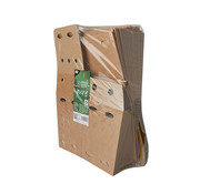 100% Fair Frietbox van bruin karton, 100% FAIR | 15cm x 10,5cm x 10,5cm