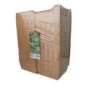 100% Fair Hamburgerbox van bruin karton, 100% FAIR | 7cm x 11,5cm x 11cm