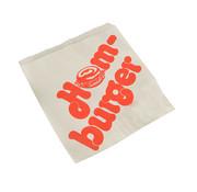 PAPSTAR Hamburgerzakken, Pergament wit met rode letters, vetvrij