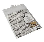 PAPSTAR Hamburgerzakken met krantenprint, vetvrij papier (20 stuks) | 16x18 cm