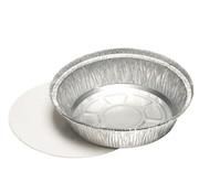PAPSTAR Aluminium bak + inlegdeksels, PP gelamineerd rond 770 ml _ 18,2 cm x 4 cm