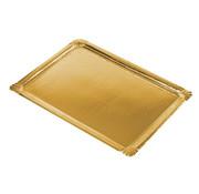 PAPSTAR Serveerschalen, Pappe, PET-beschichtet plein 34 cm x 45,5 cm goud