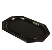 PAPSTAR Serveerschalen, PET 45 cm x 30 cm zwart