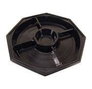 Borden (5-vaks), Zwart PS | _270mm
