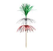 PAPSTAR Decoprikkers 18 cm groen/zilver/rood 'Fireworks' 3-laags