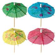 PAPSTAR Decoprikkers 10 cm assorti kleuren 'Parapluutjes'