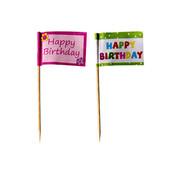 PAPSTAR Decoprikkers 8 cm 'Happy Birthday'