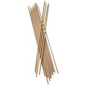 Pure Sjasliekstokjes, hout 'pure' _ 5 mm x 40 cm