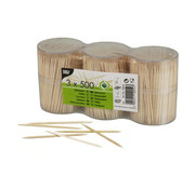 PAPSTAR Tandenstokers, hout rond 6,7 cm in spenderbox