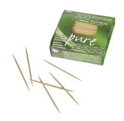 Pure Tandenstokers, hout 'pure' rond 6,5 cm