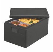 PAPSTAR 1/1 Gastro Transportboxen, EPP Zwart