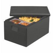 PAPSTAR Transportboxen, EPP 60 cm x 40 cm x 32 cm zwart 'Gastro-Norm 1/1'